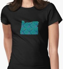 PDX Airport Carpet Portland OR Women's Fitted T-Shirt