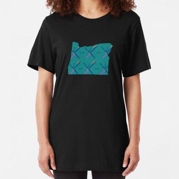 PDX Airport Carpet Portland OR Slim Fit T-Shirt