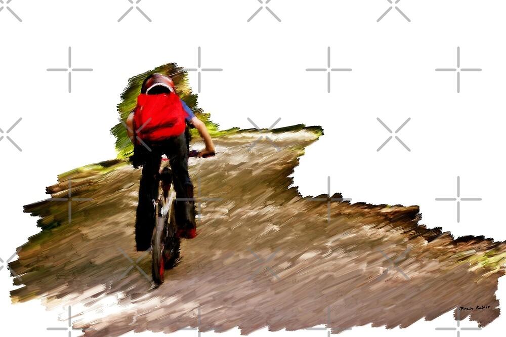 Biking Into The Unknown by Erniesartwork