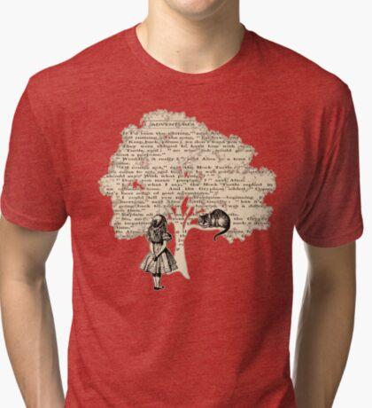 Libro de Alicia en el País de las Maravillas Camiseta de tejido mixto