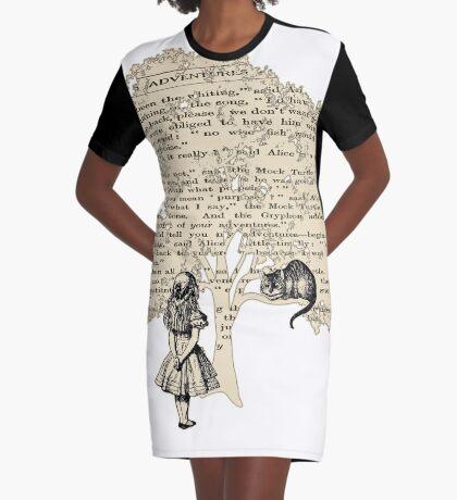 Libro de Alicia en el País de las Maravillas Vestido camiseta