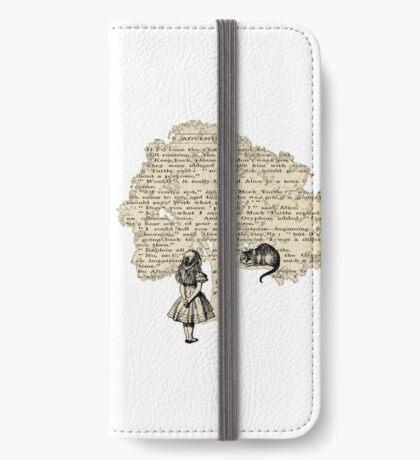 Libro de Alicia en el País de las Maravillas Funda tarjetero para iPhone