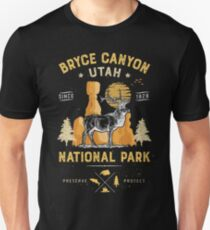 Bryce Canyon National Park Vintage Utah Deer Elk T shirt Unisex T-Shirt