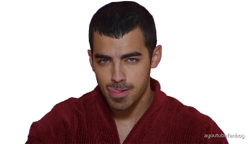 Joe Jonas licking his milk lips by ayoutubefanboy