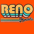 Reno, NV | City Stripes by retroready