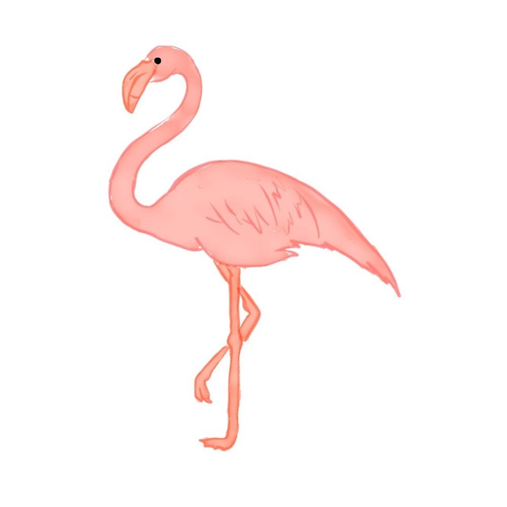 Watercolour flamingo by Nicolejackson1