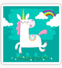 Unicorn and Rainbow Sticker
