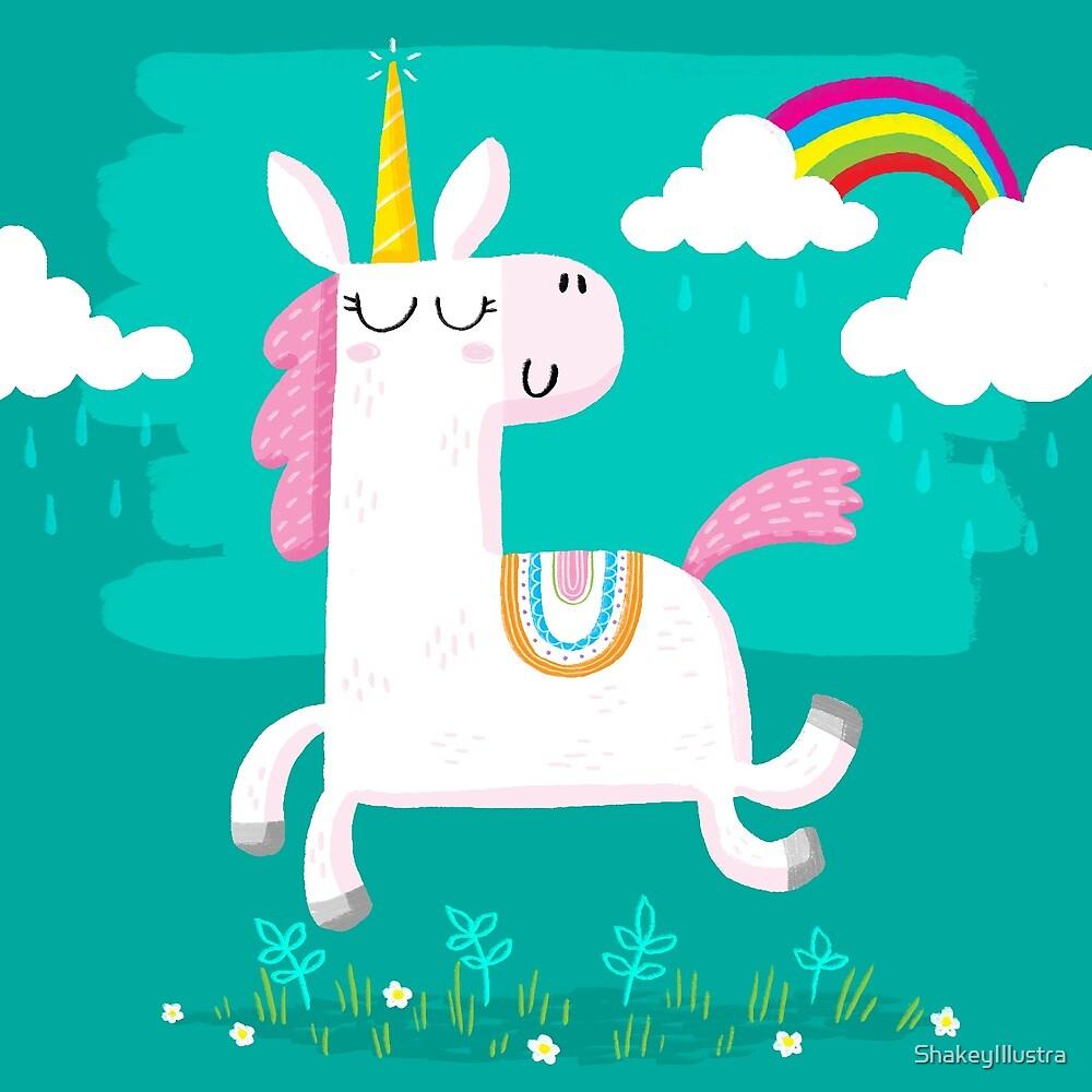 Unicorn and Rainbow by ShakeyIllustra