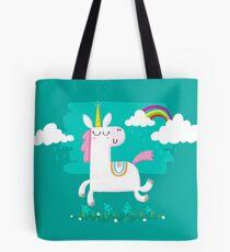 Bolsa de tela Unicornio y arco iris