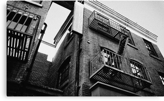 Apartment Film Set Exterior 35mm Black and White by itsricciardi