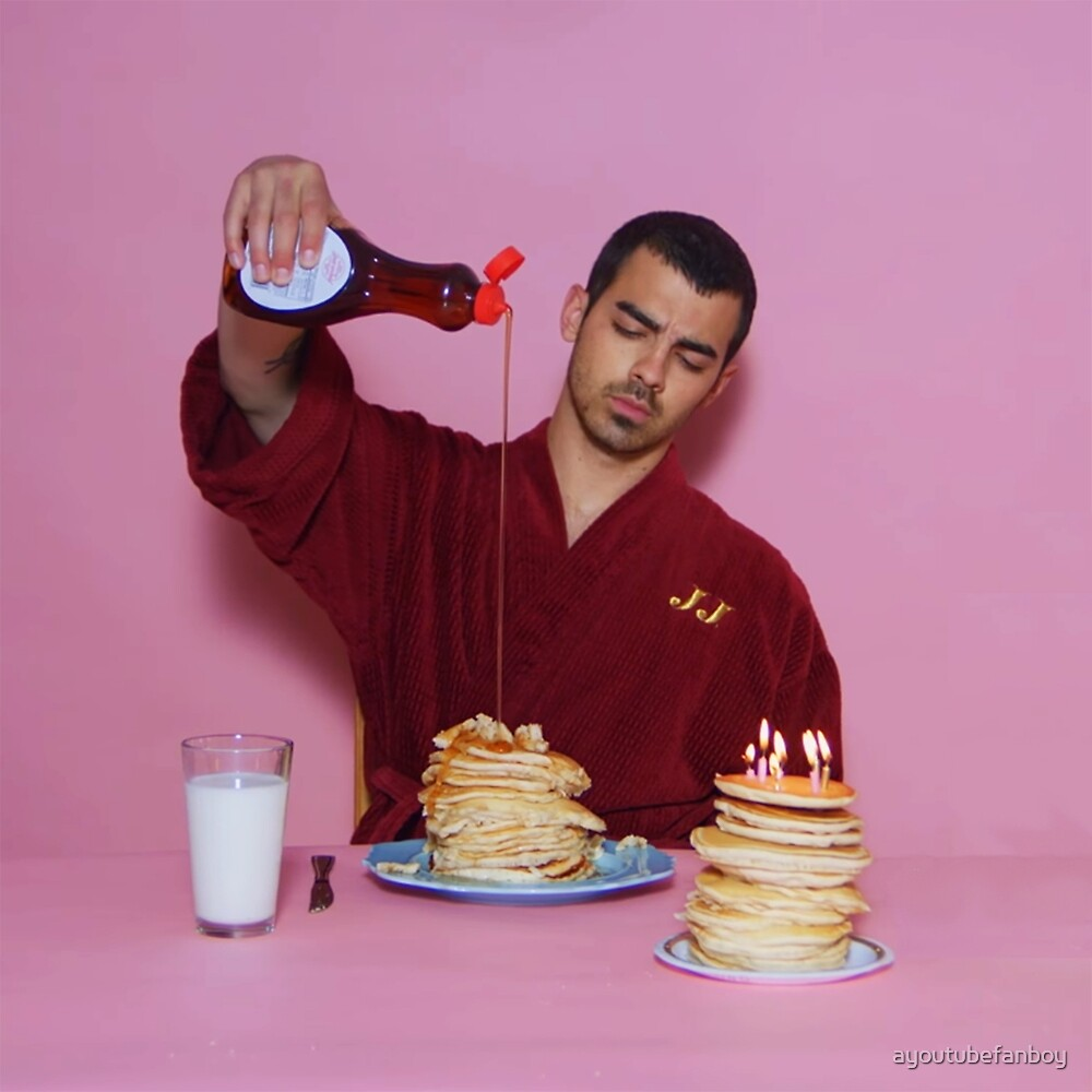 Joe Jonas pouring syrup over some pancakes SQUARE! by ayoutubefanboy