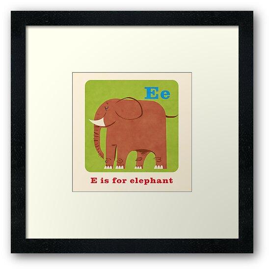 E is for elephant by daviz