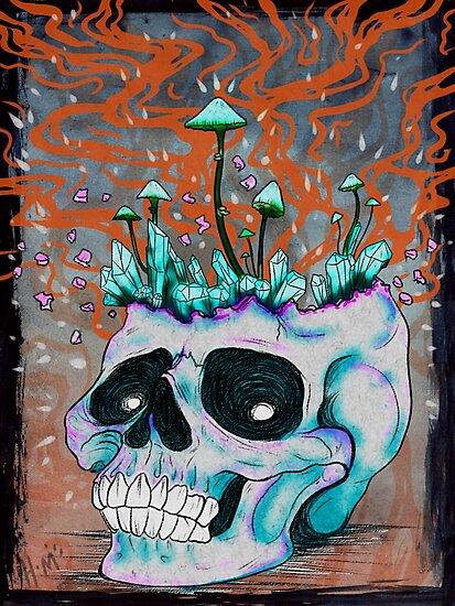 Trippy Skull by HidingMonster