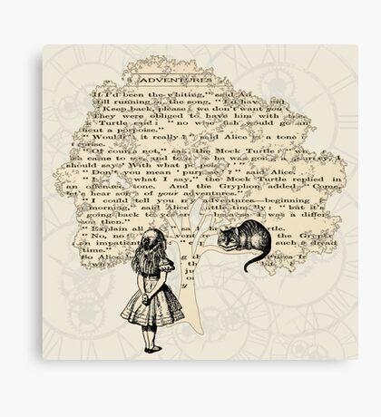 Libro de Alicia en el País de las Maravillas Lienzo