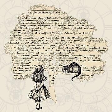 Alice im Wunderland Vintage Buch von maryedenoa
