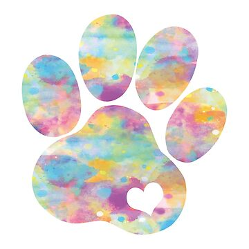 Dog paw print with heart by adoroalosperros