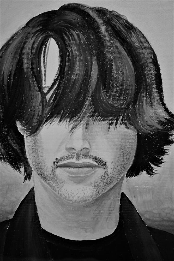 Ritratto Keanu Reeves bianco e nero by paolabuccheri