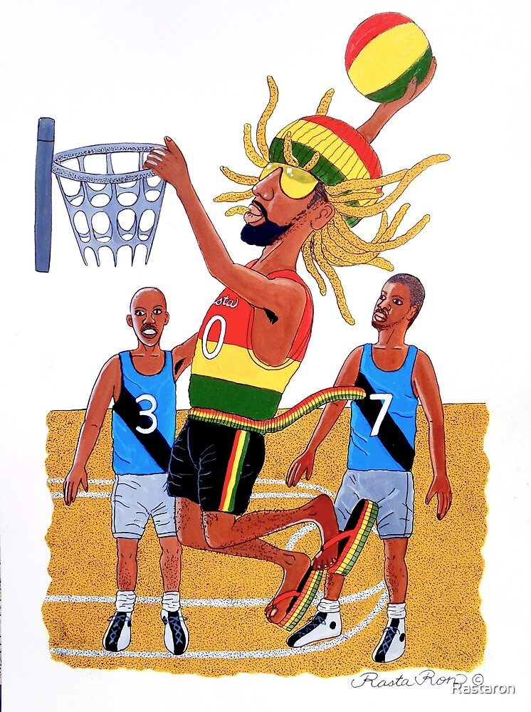 Rasta Ron basketball  by Rastaron
