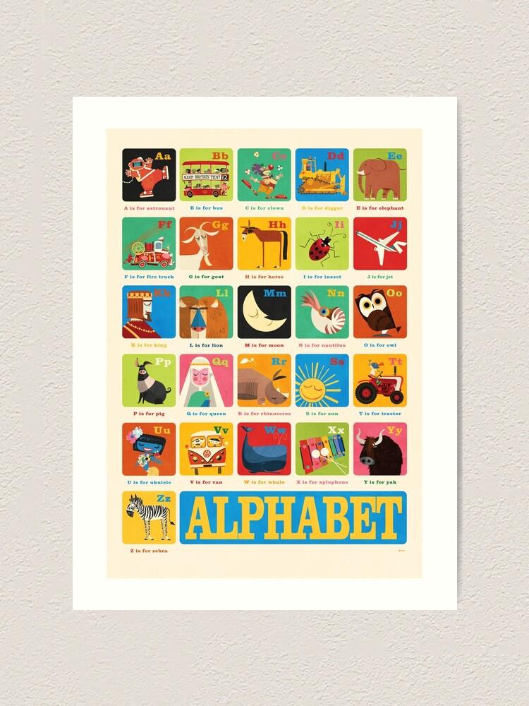 Alternate view of Daviz industries - Alphabet Art Print