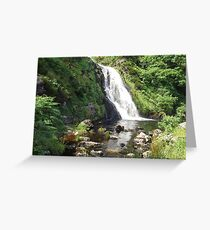 Assaranca Waterfall, Ireland  Greeting Card