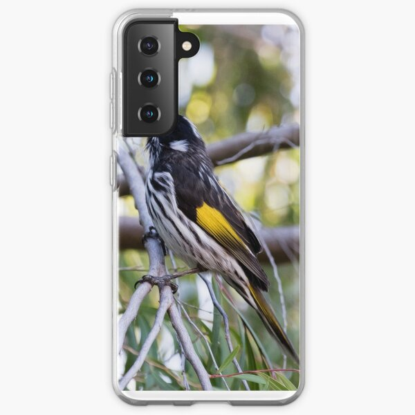 New Holland Honey-Eater Gives Warning Coque souple Samsung Galaxy
