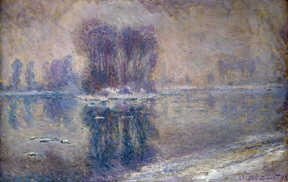 Claude Monet Ice Floes by pdgraphics