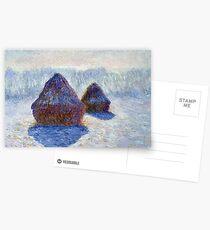 Claude Monet Haystacks in Snow and Sun Postcards
