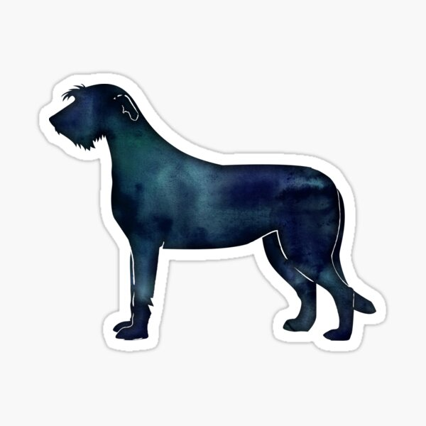 Irish Wolfhound - Black Watercolor Silhouette Sticker