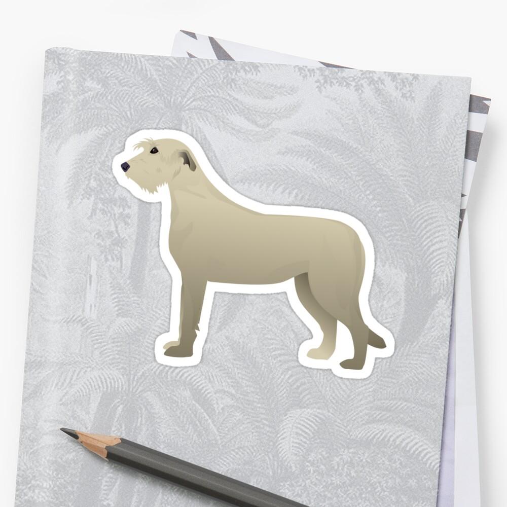 Irish Wolfhound - Basic Breed Silhouette Illustration by TriPodDogDesign