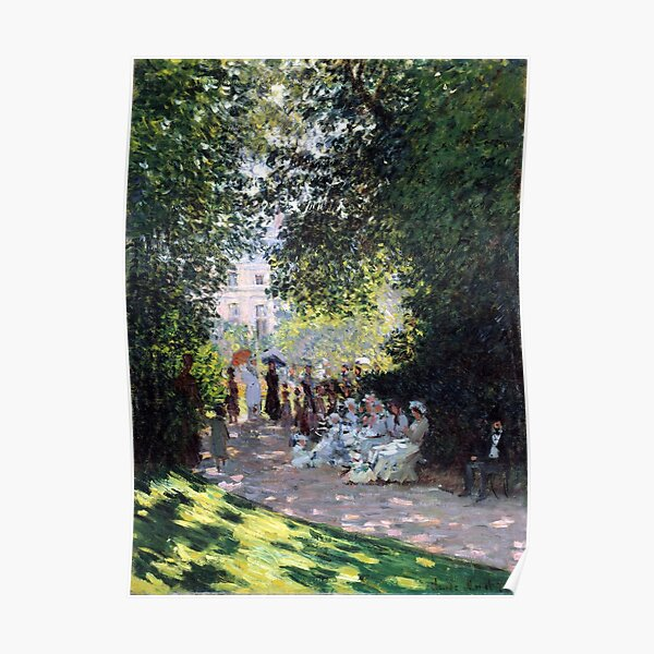 Claude Monet El Parc Monceau Póster