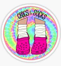 Crocs and Socks Sticker