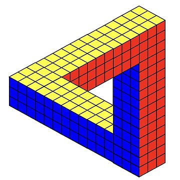 Rubik's Cube Penrose Triangle by MentosCubing