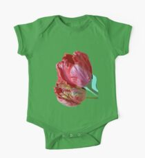 Two Red Tulips Vector  Kids Clothes