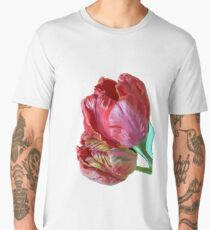 Two Red Tulips Vector  Men's Premium T-Shirt