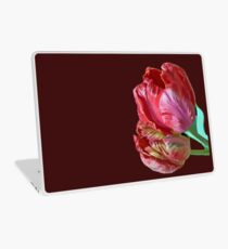 Two Red Tulips Vector  Laptop Skin