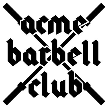 ACME Barbell Club - Black by strongershirts