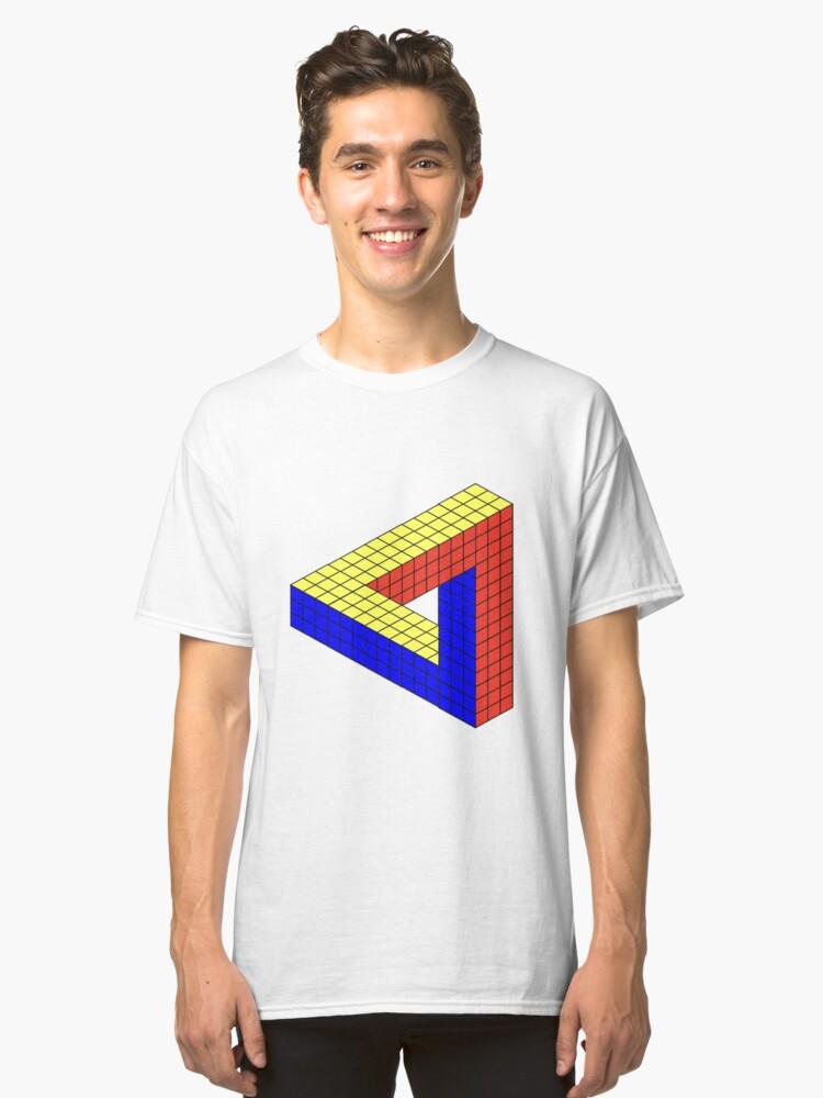 Rubik's Cube Penrose Triangle Classic T-Shirt Front