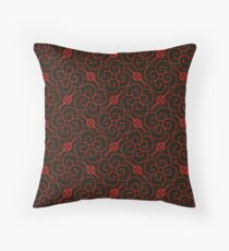 Chinese Red Art Deco Pattern Throw Pillow
