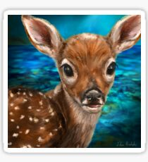 Cute White Tailed Deer - Digital Painting Sticker