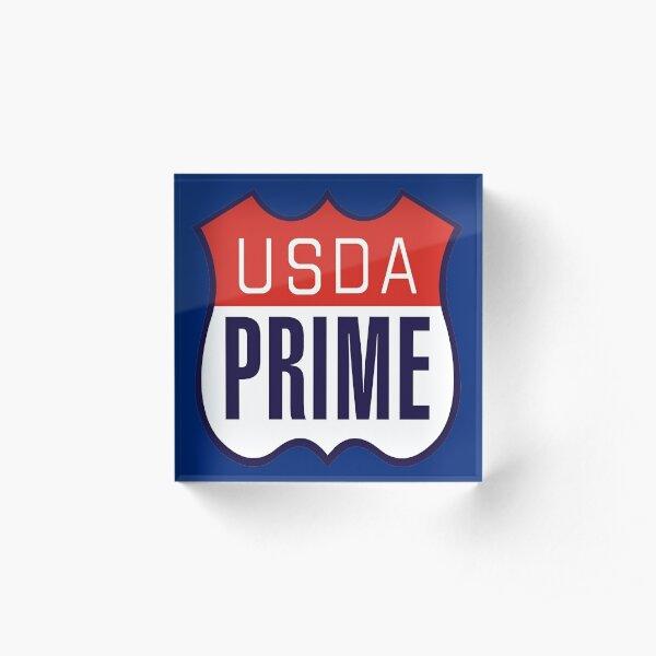 USDA PRIME Acrylic Block