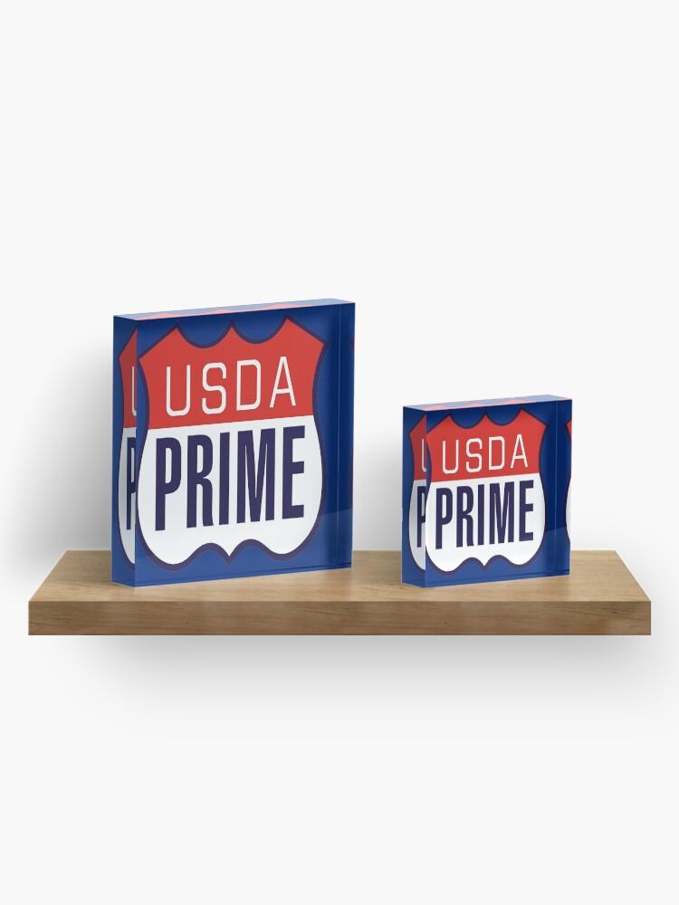 Alternate view of USDA PRIME Acrylic Block