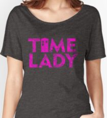 DOCTOR 13 TIME LADY MALE FEMALE TIME SYMBOL POLICE BOX TEE Women's Relaxed Fit T-Shirt