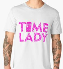 DOCTOR 13 TIME LADY MALE FEMALE TIME SYMBOL POLICE BOX TEE Men's Premium T-Shirt