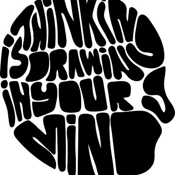 Graphic T-shirt Thinking Drawing Mind by ArronBoard