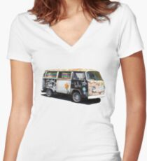 Hippie Van Women's Fitted V-Neck T-Shirt