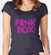 DOCTOR 13 TIME LADY MALE FEMALE TIME SYMBOL POLICE BOX TEE Women's Fitted Scoop T-Shirt