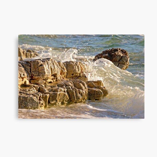 Rocks in the sea on the beach of Mali Lošinj, Croatia Canvas Print