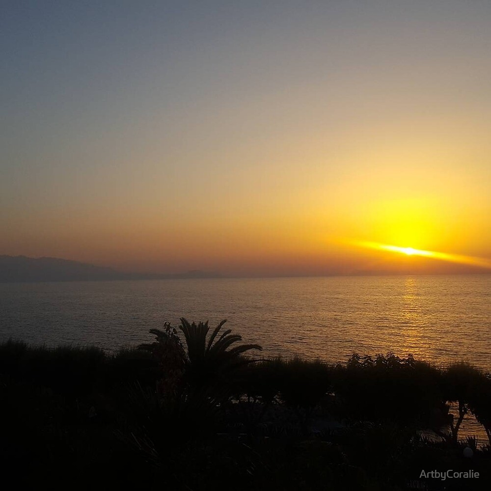 Cretian sunset 1  by ArtbyCoralie