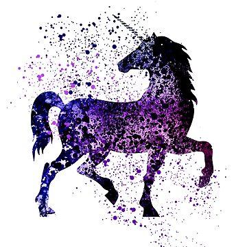 Unicorn - Cute Purple Unicorn, Fantasy by MarkelArt
