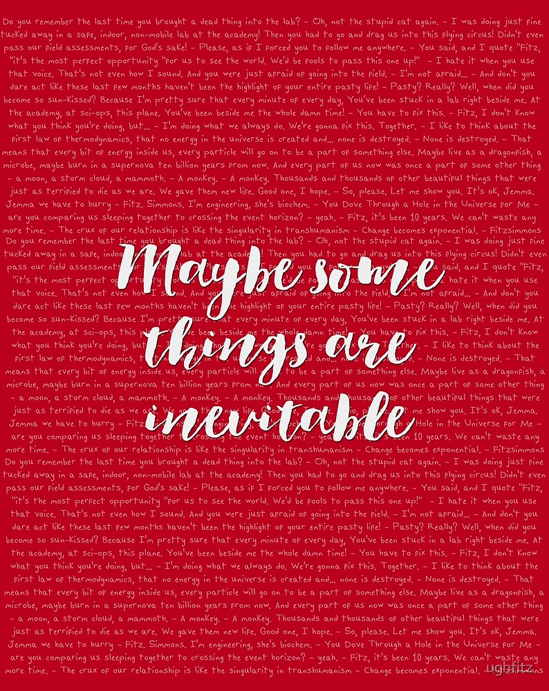 Maybe some things are inevitable by ughfitz